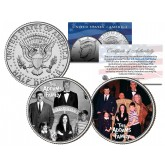 THE ADDAMS FAMILY - TV SHOW - Colorized JFK Half Dollar U.S. 2-Coin Set