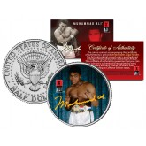 "MUHAMMAD ALI "" Young Champ "" JFK Kennedy Half Dollar U.S. Coin"