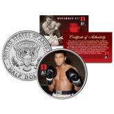 "MUHAMMAD ALI "" Gloves "" JFK Kennedy Half Dollar U.S. Coin"