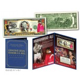 MUHAMMAD ALI  - The Greatest of All-Time - Genuine Legal Tender US $2 Bill - Officially Licensed - with COLLECTIBLE FOLIO