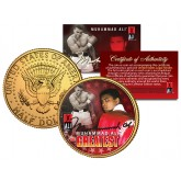 "MUHAMMAD ALI "" The Greatest "" JFK Kennedy Half Dollar 24K Gold Plated U.S. Coin"