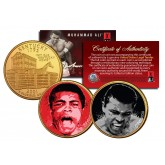 MUHAMMAD ALI - Liston Fight & The Greatest - Colorized Kentucky State Quarters U.S. 2-Coin Set 24K Gold Plated