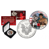 MUHAMMAD ALI Officially Licensed 1 oz. PURE .999 FINE SILVER AMERICAN U.S. EAGLE in Deluxe Gift Coin Display Box