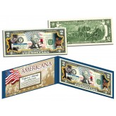 MUHAMMAD ALI - Americana - Genuine Legal Tender Colorized U.S. $2 Bill - Officially Licensed