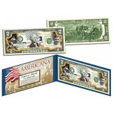 "BABE RUTH ""The Bambino"" - Americana - Genuine Legal Tender Colorized U.S. $2 Bill - Officially Licensed"