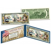 The KENNEDY Family - Americana - Genuine Legal Tender Colorized U.S. $2 Bill