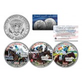 AMERICAN PHAROAH 2015 Triple Crown Winner JFK Half Dollar 3-Coin Set -TEST ISSUE