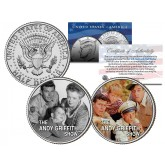 THE ANDY GRIFFITH SHOW - TV SHOW - Colorized JFK Half Dollar U.S. 2-Coin Set