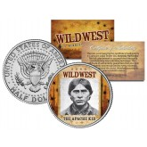THE APACHE KID - Wild West Series - JFK Kennedy Half Dollar U.S. Colorized Coin