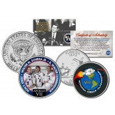 APOLLO 7 VII SPACE MISSION Colorized 2-Coin Set U.S. Florida Quarter & JFK Half Dollar - NASA ASTRONAUTS