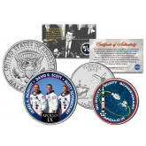 APOLLO 9 IX SPACE MISSION Colorized 2-Coin Set U.S. Florida Quarter & JFK Half Dollar - NASA ASTRONAUTS