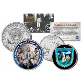 APOLLO 10 X SPACE MISSION Colorized 2-Coin Set U.S. Florida Quarter & JFK Half Dollar - NASA ASTRONAUTS