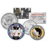 APOLLO 12 XII SPACE MISSION Colorized 2-Coin Set U.S. Florida Quarter & JFK Half Dollar - NASA ASTRONAUTS