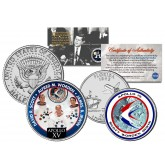 APOLLO 15 XV SPACE MISSION Colorized 2-Coin Set U.S. Florida Quarter & JFK Half Dollar - NASA ASTRONAUTS
