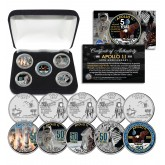 APOLLO 11 50th Anniversary Man on Moon Landing Statehood Quarters Ohio & Florida 5-Coin Complete Set with BOX