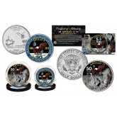 APOLLO 11 50th Anniversary Man on Moon Landing 2-Coin Set U.S. Florida State Quarter & JFK Half Dollar