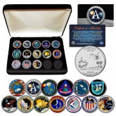 The APOLLO SPACE MISSIONS NASA PROGRAM Florida Statehood Quarters 13-Coin Complete Set  with BOX
