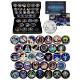 SPACE SHUTTLE ATLANTIS MISSIONS NASA Florida Statehood Quarters 33-Coin Set with BOX