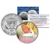 Her Royal Highness PRINCESS CHARLOTTE of Cambridge - Colorized 2015 JFK Half Dollar U.S. Coin