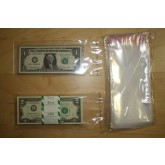 "100 Self Adhesive & Resealable 3.5""x7"" Clear Poly BAGS for Currency Banknote Bills"