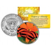 BANDED ORANGE BUTTERFLY JFK Kennedy Half Dollar U.S. Colorized Coin
