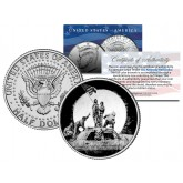 BANKSY - RAISING THE FLAG ON IWO JIMA - Colorized JFK Half Dollar U.S. Coin - Street Art Graffiti