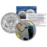 BANKSY - PEACEFUL HEARTS DOCTOR - Colorized JFK Half Dollar U.S. Coin - Street Art Graffiti