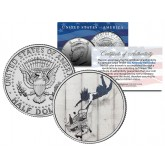 BANKSY - SHOP TILL YOU DROP - Colorized JFK Half Dollar U.S. Coin - Street Art Graffiti
