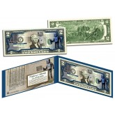 BANKSY - ROBOT TAGGING BARCODE - Colorized $2 Bill U.S. Legal Tender - Street Art Graphitti