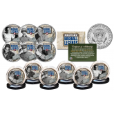 MILITARY BASEBALL LEGENDS Official JFK Kennedy Half Dollar U.S. Complete 6-Coin Set