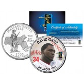 DAVID ORTIZ Colorized Massachusetts Statehood U.S. Quarter Coin Boston Red Sox - Officially Licensed