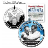 LOU GEHRIG & BABE RUTH 2006 American Silver Eagle Dollar 1 oz Colorized U.S. Coin Yankees - Officially Licensed