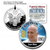 CAL RIPKEN JR 2006 American Silver Eagle Dollar 1 oz Colorized U.S. Coin Baseball - Officially Licensed