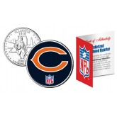 CHICAGO BEARS NFL Illinois US Statehood Quarter Colorized Coin  - Officially Licensed