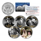 HUMPHREY BOGART - MOVIES - Colorized JFK Kennedy Half Dollar U.S. 5-Coin Set