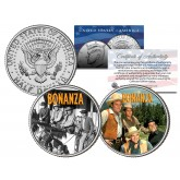BONANZA - TV SHOW - Colorized JFK Half Dollar U.S. 2-Coin Set