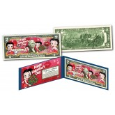 BETTY BOOP  * Happy Valentine's Day * Officially Licensed U.S. Genuine Legal Tender U.S. $2 Bill with Certificate & Display Folio