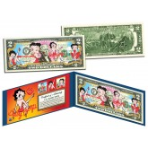BETTY BOOP Genuine Legal Tender U.S. $2 Bill - Officially Licensed