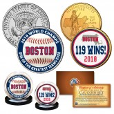 Boston Red Sox 2018 World Champions 119 WINS Genuine Legal Tender U.S. 2-Coin Set