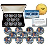 DALLAS COWBOYS - Texas Stadium Farewell - State Quarters 11-Coin Set 24K Gold Plated with Display Box - Officially Licensed