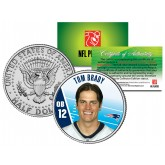 TOM BRADY Colorized JFK Half Dollar U.S. Coin NFL New England Patriots - Officially Licensed