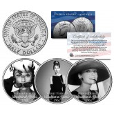 BREAKFAST AT TIFFANY'S 1961 Movie Colorized JFK Kennedy Half Dollar U.S. 3-Coin Set - AUDREY HEPBURN