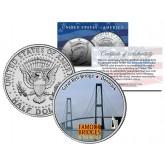 GREAT BELT BRIDGE BRIDGE - Famous Bridges - Colorized JFK Half Dollar U.S. Coin Denmark