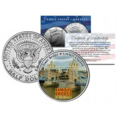 TOWER BRIDGE - Famous Bridges - Colorized JFK Half Dollar US Coin London England