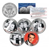 CARY GRANT - MOVIES - Colorized JFK Kennedy Half Dollar U.S. 5-Coin Set