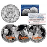 CASABLANCA 1942 Movie Colorized JFK Kennedy Half Dollar U.S. 3-Coin Set - HUMPHREY BOGART & Ingrid Bergman