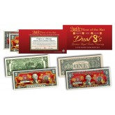 2020 YEAR OF THE RAT $1 & $2 Chinese New Year Lucky Money Set - DUAL 8's GOLD MATCHING RAT's in Premium RED LUNAR ENVELOPE – Limited & Numbered of 8,888 Sets Worldwide
