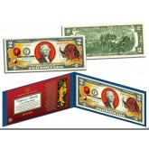 Chinese Zodiac - YEAR OF THE OX - Colorized $2 Bill U.S. Legal Tender Currency