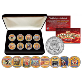 """RINGLING BROTHERS AND BARNUM & BAILEY Circus """"The Greatest Show on Earth"""" ULTIMATE 8-Coin Set with Premium Display BOX"""