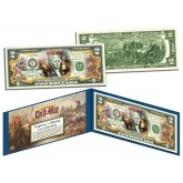 American CIVIL WAR - Battle of New Orleans - Legal Tender U.S. Colorized $2 Bill
